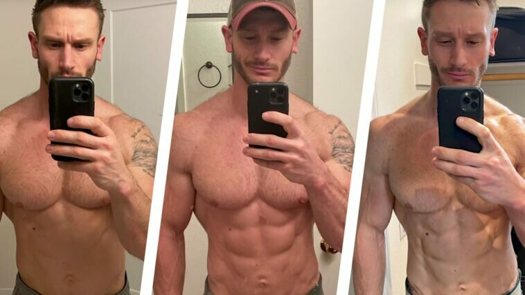 A 3-Week Keto Experiment Helped This Guy Go From Lean to Shredded mh 3 4 transformation 3 split 1583349896 758x426