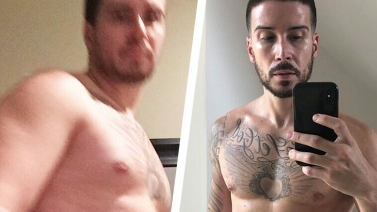 Vinny Guadagnino From 'Jersey Shore' Shows Off Weight Loss mh 4 22 transfo split 1587564370 758x426