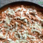 Cheesy Spaghetti Squash Skillet Keto and Low Carb