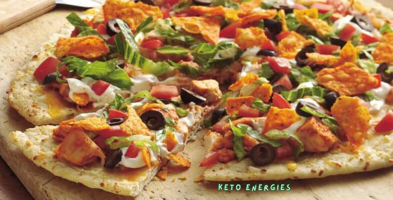 Chicken Crust Taco Pizza Low Carb and Keto