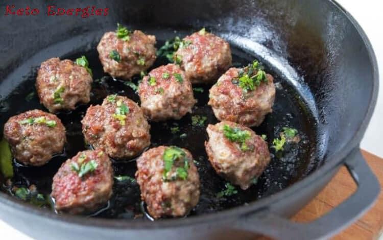 Lamb Meatballs with Mint Gremolata Keto 2021